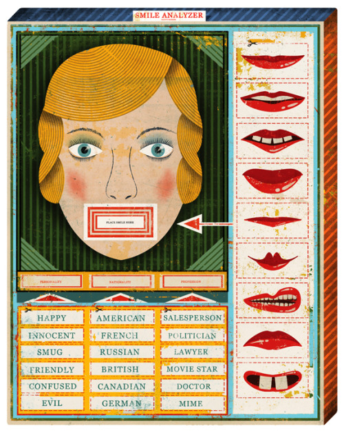 The Smile Analyzer - offensive vintage game. Creepy. Via iconoclassic:  (via christian northeast - journal - New York Times_Science front page)