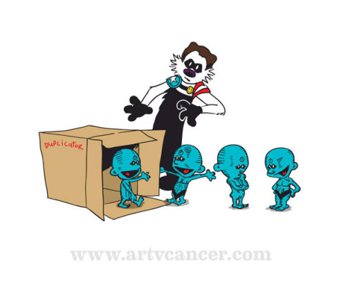 Illustration for Art v cancer www.artvcancer.com/product/watchin-calvin-hobbes all money goes to charity
