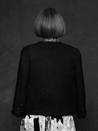 anna wintour shot by karl lagerfeld for http://thelittleblackjacket.chanel.com/