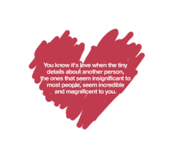 bestlovequotes:  Tiny details about another person is increadible and magnificent to you | FOLLOW BEST LOVE QUOTES ON TUMBLR  FOR MORE LOVE QUOTES