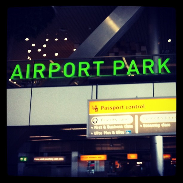 @ Schiphol, Amsterdam - worlds first airport park (Taken with instagram)