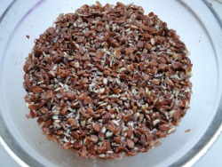 Ground flax seeds soaked in water