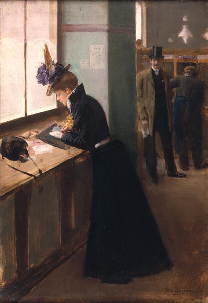 poboh:  At the Telegraph, Jean Beraud. French (1849 - 1935)