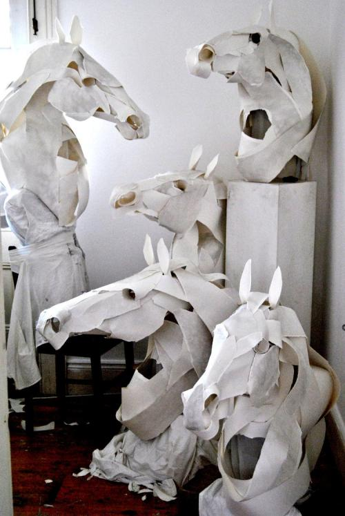 Anna-wili Highfield, paper sculpture.