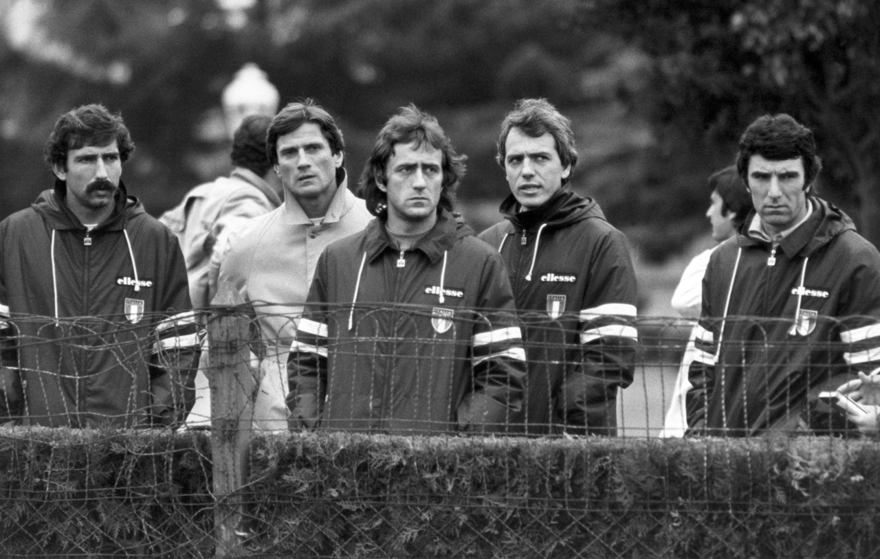 Paolo Conti, Giancinto Facchetti, Mauro Bellugi, Roberto Bettega and Dino Zoff at World Cup 1978.