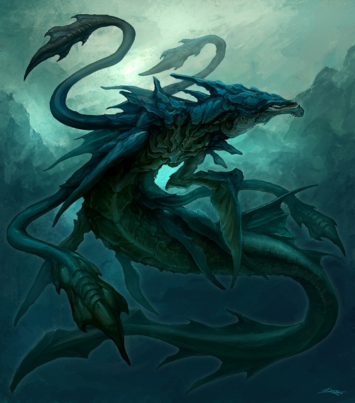 "victoriousvocabulary:  LEVIATHAN [noun] a sea monster referred to in the Bible. In Demonology, the Leviathan is one of the seven princes of Hell and its gatekeeper (see Hellmouth - the entrance to Hell envisaged as the gaping mouth of a huge monster). The word has become synonymous with any large sea monster or creature. In literature (e.g., Herman Melville's Moby-Dick) it refers to great whales, and in Modern Hebrew, it simply means ""whale."""