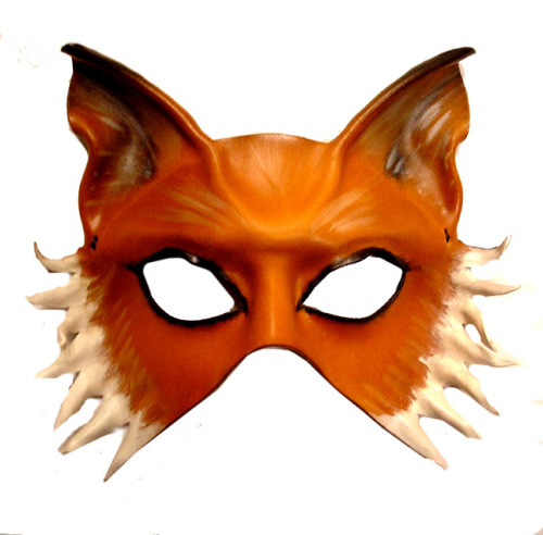 Leather Fox Mask by Caroline Guyer of www.teonova.etsy.com Teonova Leather Masks feature hand crafted leather masks…as seen in commercials (Absolut Greyhound for Absolut Vodka is a recent one), on TV, in music videos…and worn by folks across the globe. Attention to detail and quality craftsmanship makes them suitable to display in your home as little pieces of art that you can also wear. Perfect for Halloween, Mardi Gras, Carnivale, renaissance faires, costume events, masquerade balls, props, ballet costumes, theater costumes, opera costumes, masked balls, theme weddings, for fun… www.teonova.com