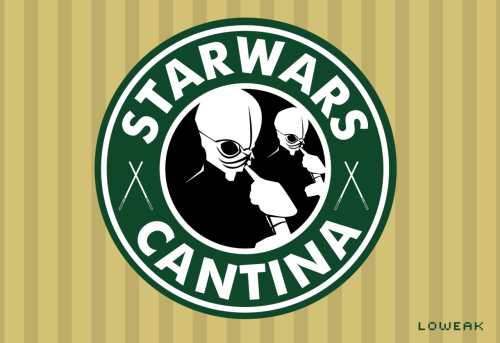 Today, Star Wars Cantina logo ! (StarBucks Coffee(c) style)