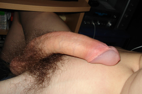 freexpor:  Ouch!   An amazingly beautiful cock…love the perfect color.