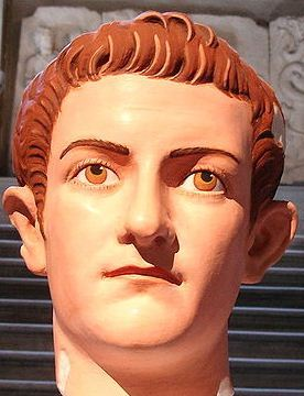 "thegirlwiththefinchertattoo:  ""A marble bust of Caligula restored to its original colours. The colours were identified from particles trapped in the marble."" What I'm gleaning from this is that Mark Zuckerberg is the reincarnation of Caligula."