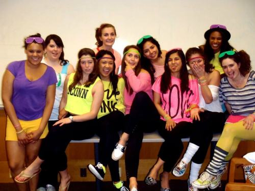 Alpha Beta Chapter NMC's at the 80s party!
