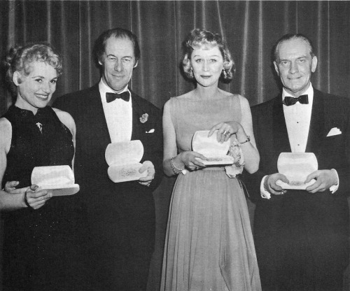 fredricmarch:  Tony Awards 1957. Fredric March received a Tony for his performance as James Tyrone in Eugene O'Neill's Long Day's Journey Into Night.