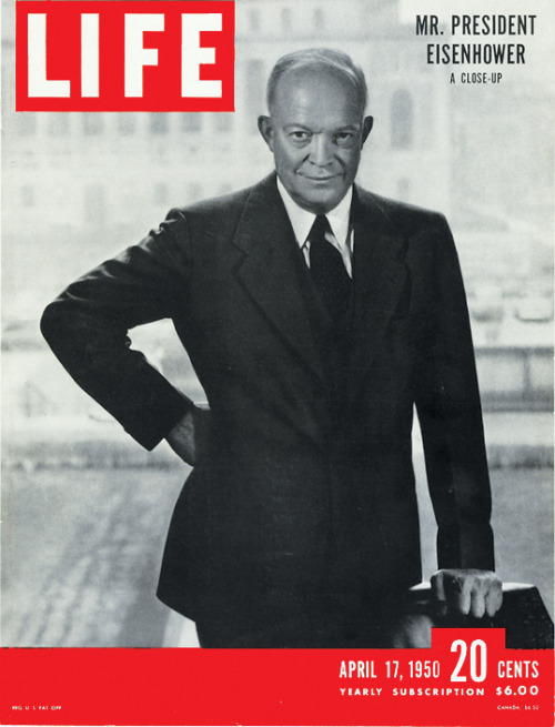 life:  March 28, 1969: President Eisenhower dies in Washington D.C., at the age of 78. Pictured above, Eisenhower graces the cover of the April 17, 1950 issue of LIFE Magazine.