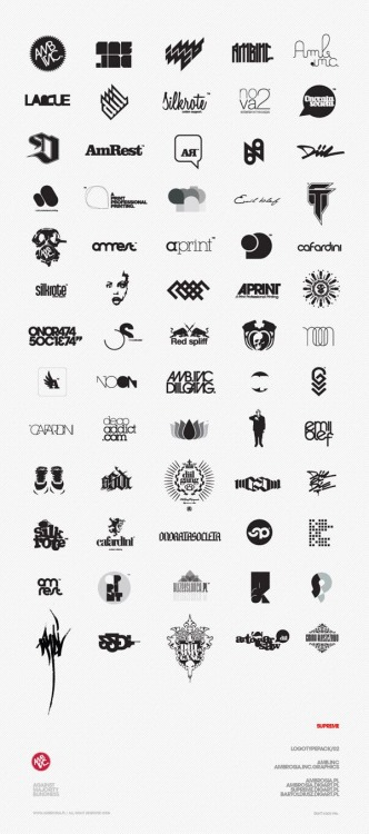 weandthecolor:  Stunning Logo Design Graphic works by 5upreme. via: MAG.WE AND THE COLORFacebook // Twitter // Google+ // Pinterest