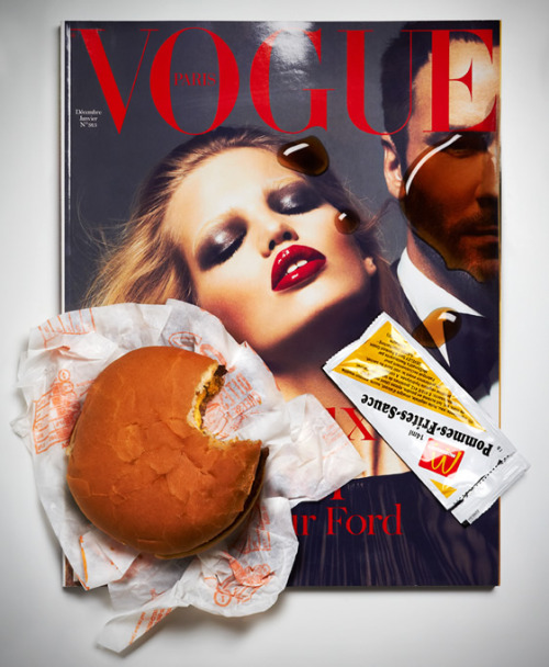 Loving Aurelien Juner's subverted fashion mag covers. (Via We Heart.)