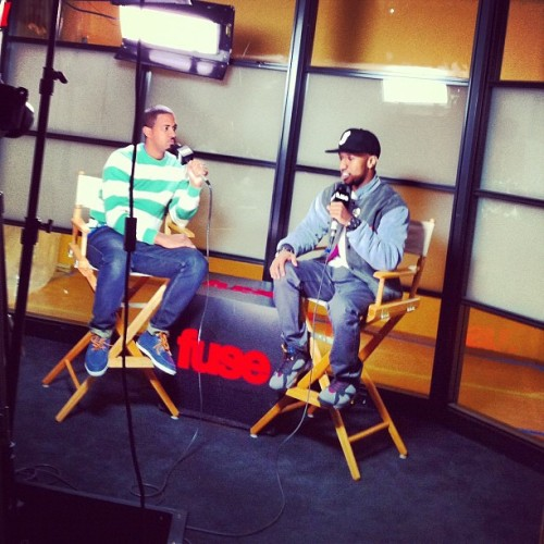 boijeanius:  @gscottking on the Fuse Tv set being interviewed. (Taken with instagram)