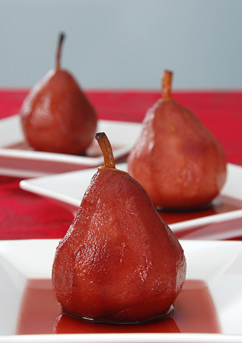 Red Wine Poached Pears! (recipe)