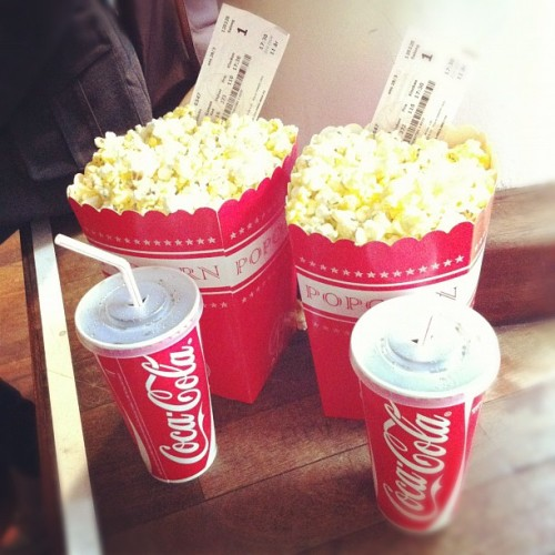 #popcorn #drink #cocacola #salt #cinema #hungergames #tickets  (Taken with instagram)