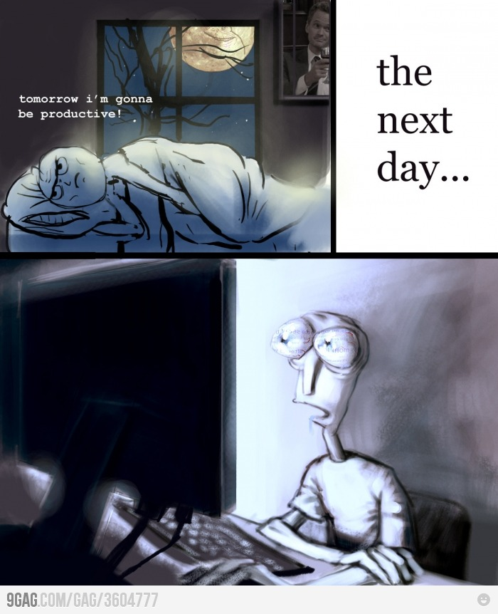 The next day..