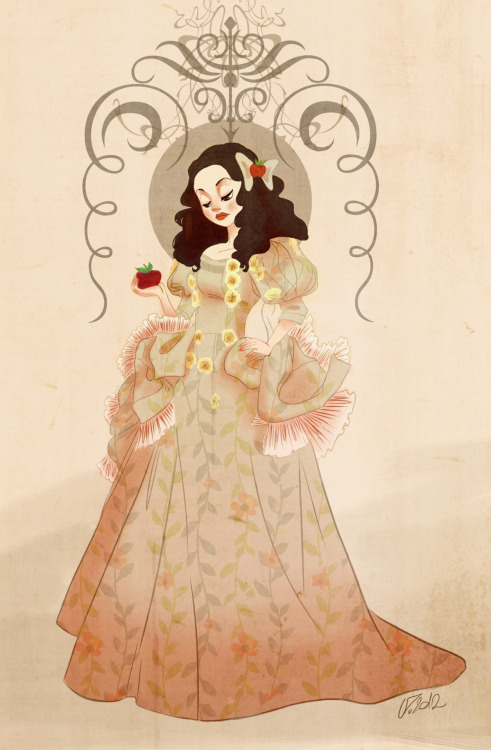 My Snow White!   I was inspired by some of the Disney Snow White and some from Snow White of the ONCE UPON A TIME. I took the reference for the dress from a picture in the site minitokyo.net but I don't remember the link exactly.