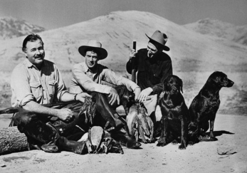 "Your Morning Shot: Ernest Hemingway and Gary Cooper ""The only achievement I am really proud of is the friends I have made in this community."" - Gary Cooper"