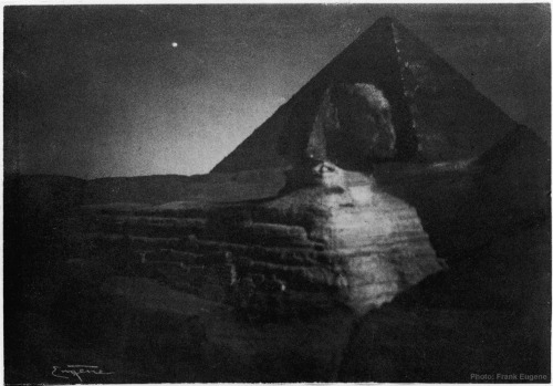 The Sphinx of Giza, Egypt, midnightEgypt1901  Photograph by Frank Eugene