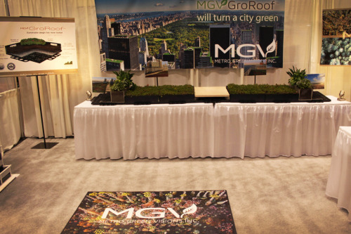 GroRoof® debuts at the 2011 Greenbuild in Toronto, Canada.