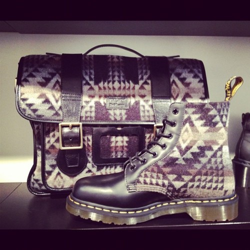 Love the Dr Martens x Pendleton collab for #fw12 (Taken with instagram)