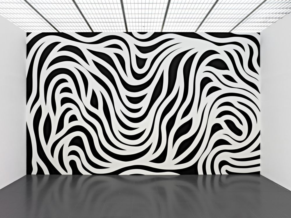 "Sol LeWitt, ""Wall Drawing #879, Loopy Doopy (black and white)"". Première installation: PaceWildenstein, New York, September 1998, LeWitt Collection, Chester, Connecticut © Adagp, Paris 2012 © Centre Pompidou-Metz / Photos : Rémi Villaggi In the 13,000 square feet of Galerie 2, the Centre Pompidou-Metz is currently hosting a retrospective of Sol LeWitt's wall drawings on a scale never seen before in Europe. The selected thirty-three wall drawings, the largest group ever exhibited in Europe, span the artist's career from its beginnings to his final works."