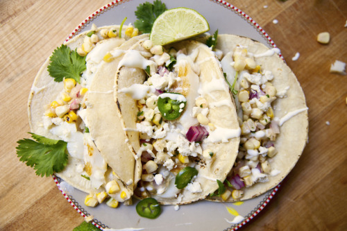 Grilled Halibut Fish Tacos with Spicy Corn Salsa From The Kitchy Kitchen - definitely an excellent source of inspiration for food photography (and yummy recipes)!