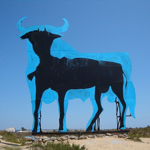 Spanish symbol of recession. Street Art in Santa Pola, Alicante.Love-Spain