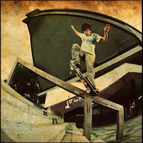 Louie Barletta. Switch nosegrind Czech Republic. Photo: @bigreel #staffcrops (Taken with instagram)