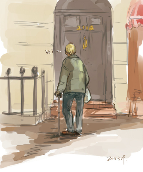 xxxxxx6x:  I don't know why I drew this. sketch in Sai. Good morning, 221B