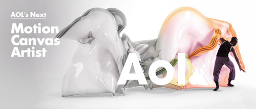 AOL actively empowers the creative community by commissioning artists from around the world to create the visual identity of the AOL brand. Over 90 painters, illustrators, videographers, sculptors, photographers and multi-media artists have worked with AOL and become members of the AOL Artists community. With the spirit of creativity in mind, AOL is on the hunt for the next top talent in motion graphics! Through a partnership with Behance, AOL will run a month long competition on the Behance network, tapping into the company's incredible database of creatives. From March 28 to April 28, the competition will run across Behance's digital platform, encouraging Behance users to submit past work to showcase their expertise in the motion graphics field. Five finalists will be selected, who will then be given the opportunity to present their creative vision for the motion works, and if then selected, will create AOL's next motion canvases.