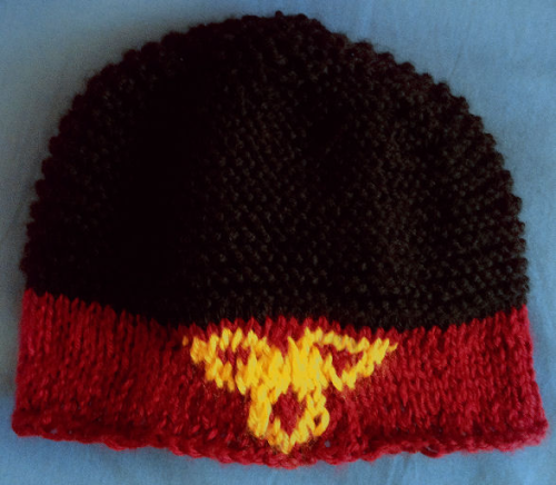 The Headband Hat Greeting, Hotman! Might you be interested in owning hand-knit hats based on Avatar the Last Airbender or Legend of Korra? This is a trial model, and there's a few small changes in design I still want to make to this, but here is the first of many Avatar the Last Airbender/Legend of Korra hats I've got planned (including, of course, designs based off of the four nations). All hats I make will be based on my own patterns. So I'm wondering: would anyone be interested in buying such hats?