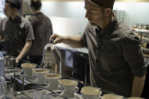 Cerro Gacho C.O.E. pour over at Blue Bottle.