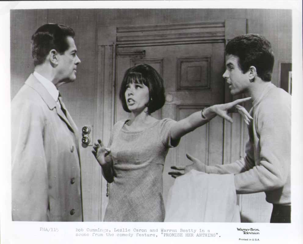 Robert Cummings, Leslie Caron, and Warren Beatty in #PromiseHerAnything