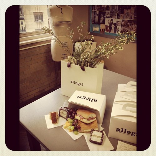 Lunch break with Allegri to see their collab w/ the HS of Fashion Industries. I got a sneak peek at the outerwear that the high school students designed and gotta say I'm impressed. (Taken with Instagram)