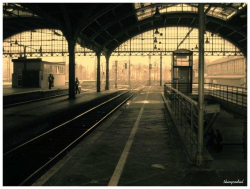 melancholic-mind:  Railway station in Wroclaw  I can`t resist railway stations. You know I can`t.
