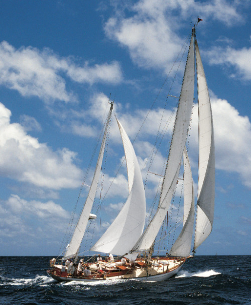 thingsiluke:  Righteous. assoulinepublishing:  Antigua's Classic Yacht Regatta, 1995… in an upcoming Ultimate Edition that's to die for.    Oh my! Beautiful boat.