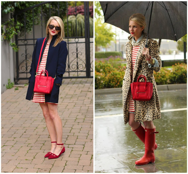 Blair Eadie of Atlantic-Pacific wears our flat ballet bow shoes in red.