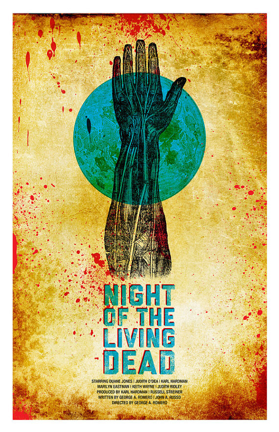 "Alternative George Romero zombie film poster art.Can be seen on 84/5 Studio Etsy shop.Dimensions 11x17"" on cardstock"