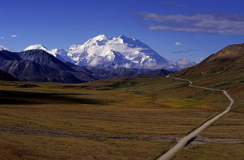 Mount Mckinley, Alaska by Exodus Travels - Reset your compass on Flickr.Alaska attracts Wish to go there. Looks so pure and untouched (except for the road..)