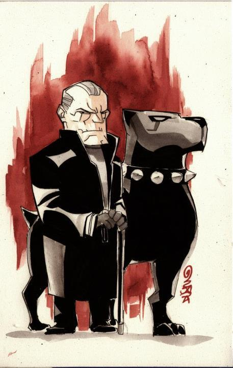 Baby Heroes di Dustin Nguyen Old Bruce Wayne and Ace