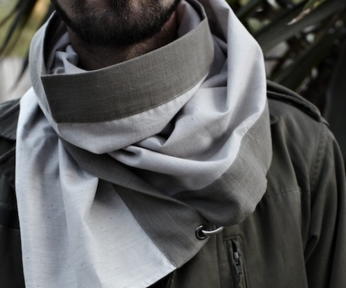 streetmarketstyle:  Symmetry Spring/Summer 2012 – Technical Scarves http://bit.ly/HiVF3B  Interesting technical scarves by Symmetry S12.