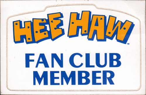 Hee Haw Fan Club Sticker