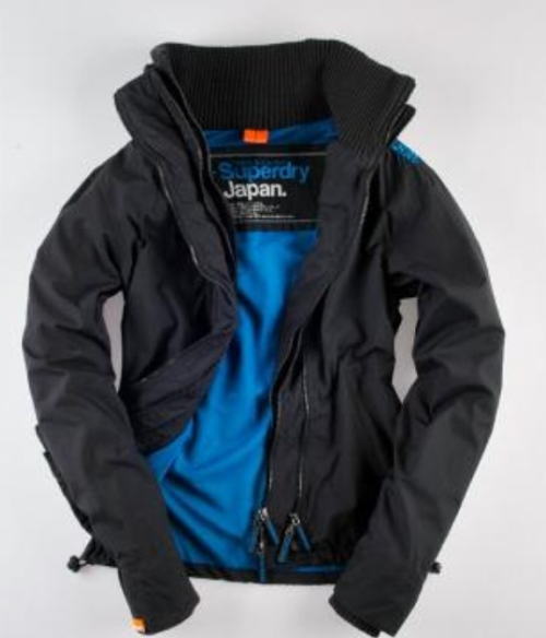 Superdry Technical Windcheater - awesome jacket with three zippers and high collar.  You can choose between 5 different interior colors.  Keeps out the wind chill.  www.superdry.com
