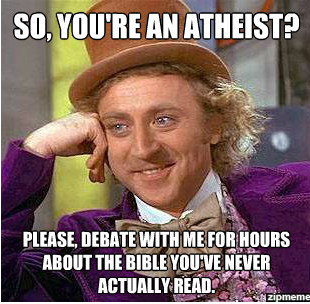 Funny, I've read more of the bible being Atheist than when I was a christian…who else has done the same thing?