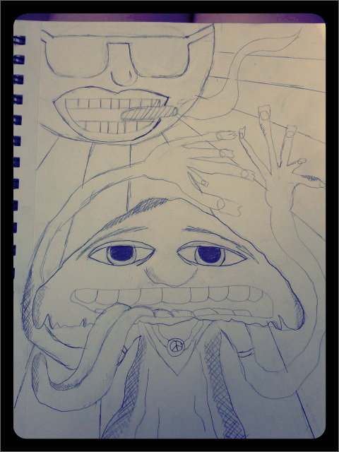 new sketch. gunna paint it. #justforfun (Taken with picplz.)