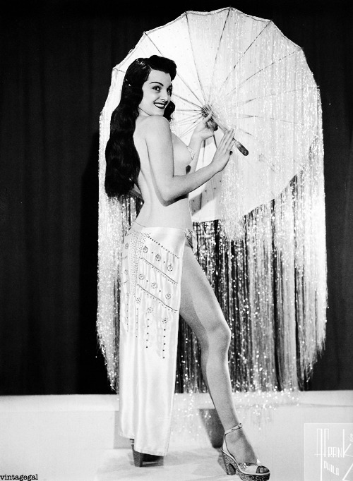 Burlesque dancer Jan Tiffany c. 1950's